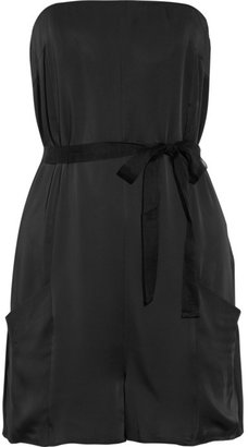 Elizabeth and James Giles strapless satin playsuit