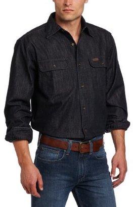 Carhartt Men's Washed Denim Work Shirt Long Sleeve Button Front Original Fit