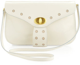 Mark & James by Badgley Mischka Kelsie Patent Leather Clutch, Bone