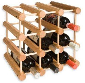 J.K. Adams 12-bottle Wine Rack, Laquered Oak