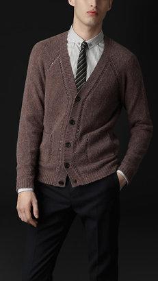 Burberry Open-Stitch Detail Cashmere Cardigan