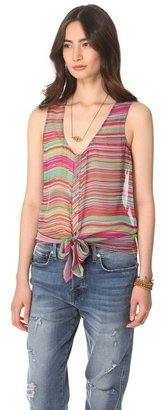 Twelfth St. By Cynthia Vincent Tie Front Tank