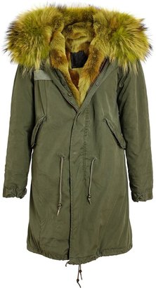 Mr & Mrs Furs Fur Lined Parka Coat