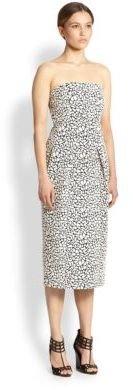 Zero Maria Cornejo Strapless Pebble Jacquard Dress