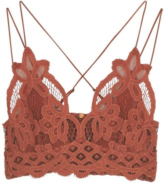 Free People Adella Dusty Pink Lace Bra Top