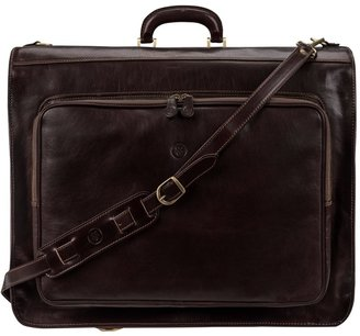 Maxwell Scott Bags Finest Brown Italian Leather Mens Suit Carrier