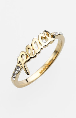 Ariella Collection 'Messages - Peace' Script Ring (Nordstrom Exclusive)