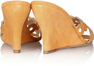 Oscar de la Renta Thessa suede wedge sandals