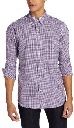 Nautica Men's Long Sleeve Mini Check Shirt