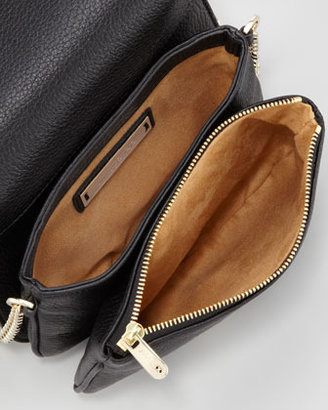 Jimmy Choo Shadow Metallic Crossbody Bag, Black