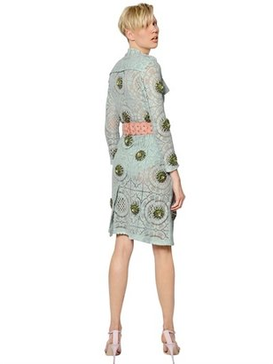 Burberry Jeweled Victorian Lace Trench Coat