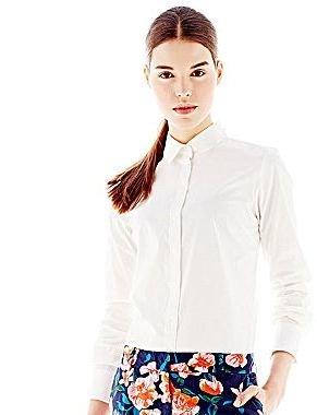 Joe Fresh Poplin Button-Front Shirt