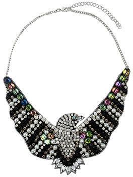 Topshop Embellished eagle necklace