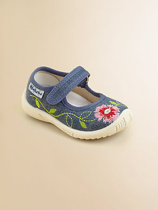 Naturino Infant's & Toddler Girl's Embroidered Denim Mary Janes