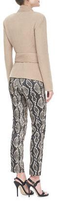 Donna Karan Cozy Cashmere Belted Jacket