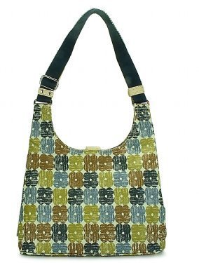 Orla Kiely Textured Flower Check Classic Shoulder