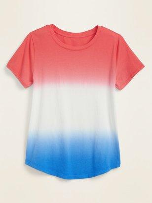 Old Navy EveryWear Americana Dip-Dye Tee for Women
