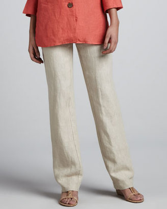 Neiman Marcus Relaxed Linen Trousers