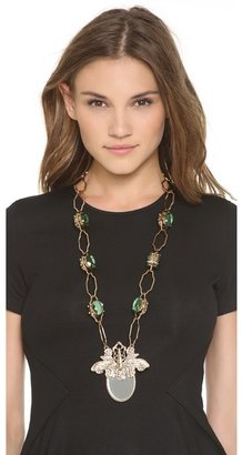 Tory Burch Greer Mirror Pendant Necklace