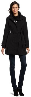 Via Spiga Women's Belted Trench with Removable Hood