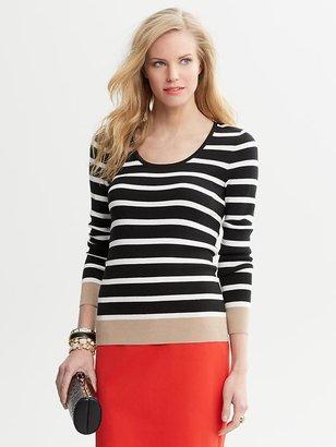 Banana Republic Striped Scoop-Neck Sweater