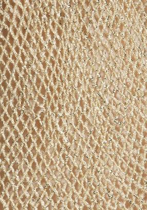 Free People Sequin Fishnet Slip Dress