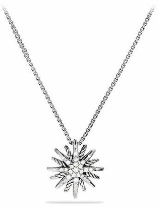 David Yurman Starburst Small Pendant with Diamonds on Chain