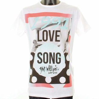 Blood Brother Fat Willys Love Song T Shirt White