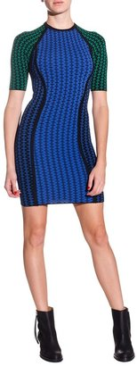 Torn By Ronny Kobo Gabi Dress - Blue/Green