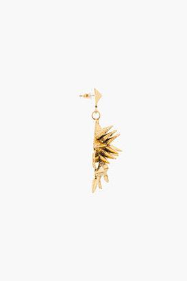 Fallon Old gold Warrior Chandelier Earrings
