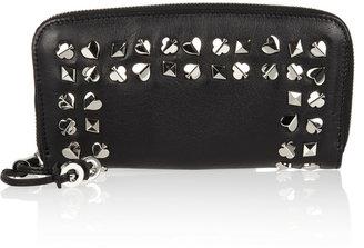 Jimmy Choo Filipa embellished leather continental wallet