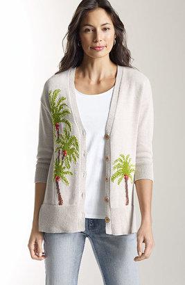 J. Jill Tropical artisan cardigan