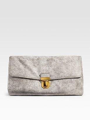 Prada Craquele Leather Clutch