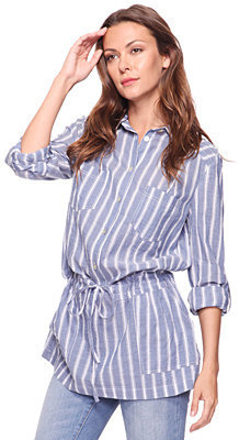 Forever 21 Love21 Striped Drawstring Tunic