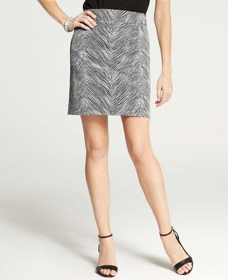 Ann Taylor Chevron Print Madison Skirt