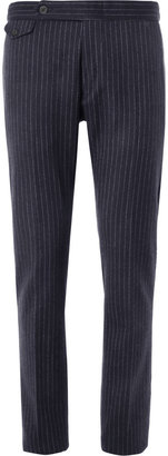 Gant Navy Striped Wool-Blend Suit Trousers