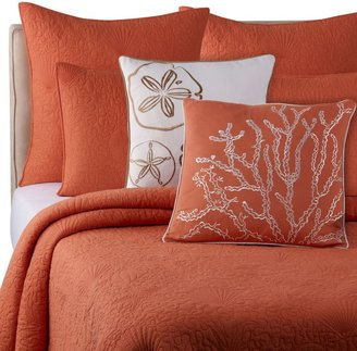 Bed Bath & Beyond Solid Seashell Coral Quilt