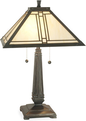 Dale Tiffany Style Lined Mission Table Lamp