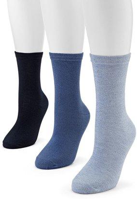 SONOMA Goods for LifeTM 3-pk. Melange Crew Socks