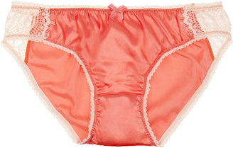 Mimi Holliday Bisou Bisou L'Amour low-rise lace and stretch silk-satin briefs