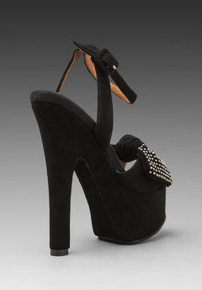 Jeffrey Campbell Bow-Down in Black/Silver