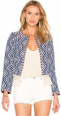 Tularosa Santa Fe Fringe Jacket in Blue $178 thestylecure.com
