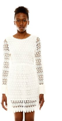 Olympia Elizabeth Crochet Long Sleeve Dress