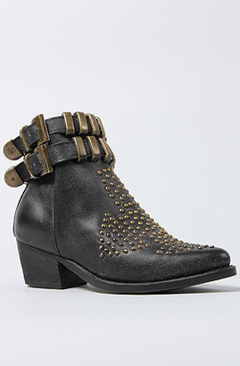 Jeffrey Campbell The Lovich Boot in Black Distressed