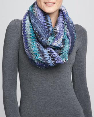 Missoni Infinity Zigzag Knit Scarf, Turquoise
