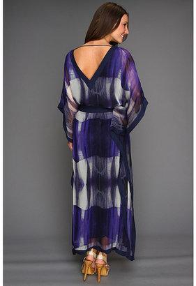 Halston Three-Quarter Sleeve Caftan Dress