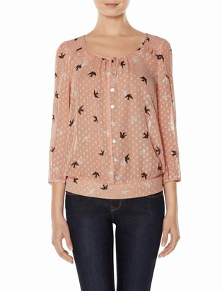 The Limited Romantic Birds Layering Top