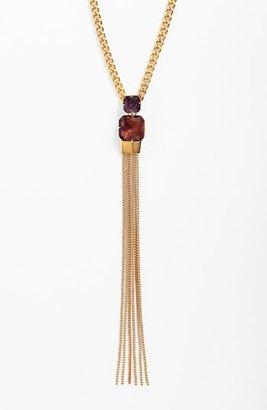 Vince Camuto 'Jewel Purpose' Stone Tassel Pendant Necklace