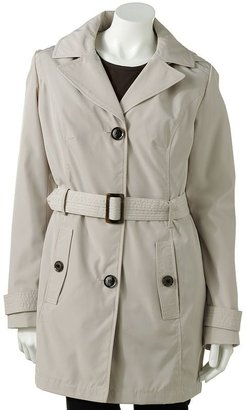 Braetan hooded trench raincoat