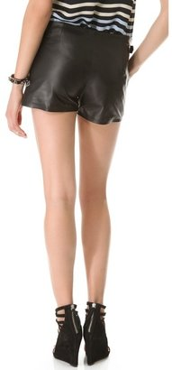 L'Agence Lined Shorts with Buckles